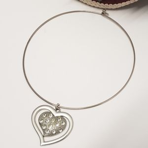 Adorable Heart with Crystal's Chokee Necklace